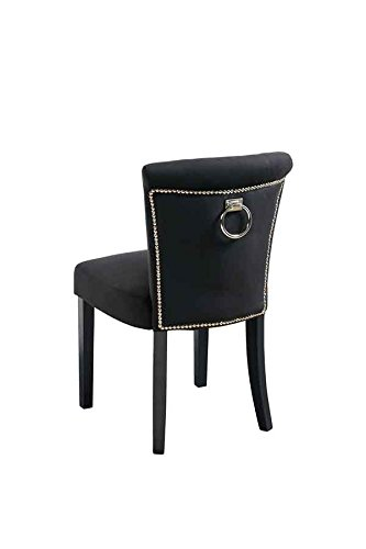 My-Furniture geknoepfter Gepolsterter Esstischstuhl mit Rueckenring Positano