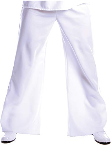 Underwraps Costumes Men's Bell Bottom Pants, White, One Size -