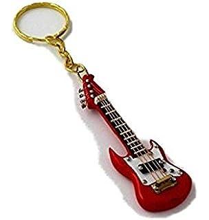 2503-4659-Llavero guitarra eléctrica miniatura roja 7 centimetros. Con estuche