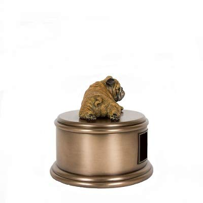 Perfect Memorials Custom Engraved English Bulldog Figurine Cremation Urn by Perfect Memorials (Image #3)