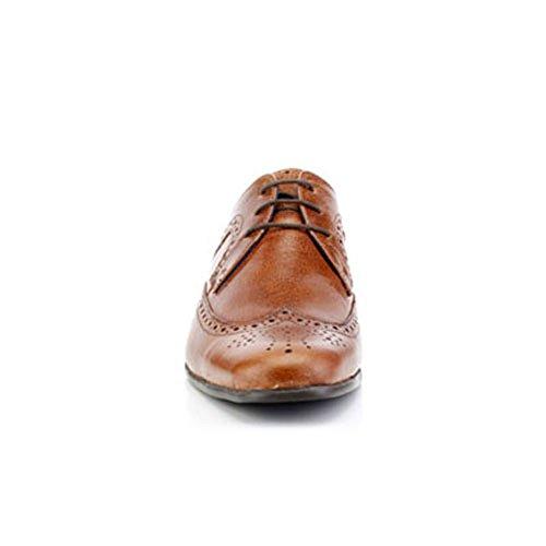 Hombre Marrón Piel Cordones Tape Zapatos Para Red De Canela xqHOnzY
