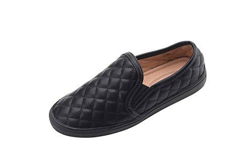 Mila Lady (WANDA) Women Canvas Fierce Quilt Pattern Slip On Fashion Sneakers ,