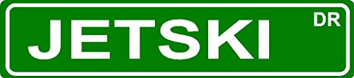 """JETSKI Aluminum street sign 4""""x18"""" great Décor for any room or garage."""