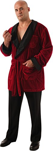Smoking Costumes (Secret Wishes Men's Playboy Smoking Jacket with Belt and Pipe Costume, Red, Plus)