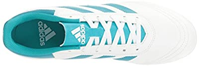 Adidas Women's Goletto VI FG W Soccer Shoe, White/Energy Blue Easy Coral S, 7 M US