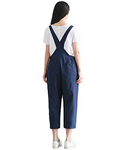 Lungo Blu Ufficio StyleDome per Partito Casual Elegante Jumpsuit Donna 1w58wzqa