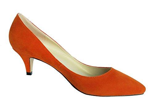 602595cd360ee ... Classique Couleur 6 Uni Talon Orange de Suédé Mariage Cm wealsex Talon  Simple Aiguille Escarpins Femme ...