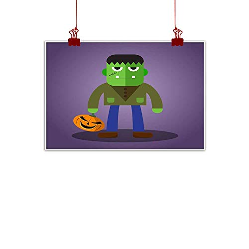 duommhome Abstract Painting Frankenstein Cute Halloween Character Abstract Painting 47