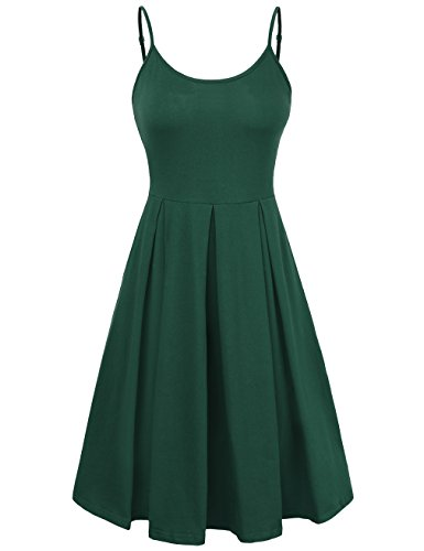 Beach Bum Dress (KASCLINO Christmas Dress, Women's ladies Beach Slip Strap Skater Dress Green L)