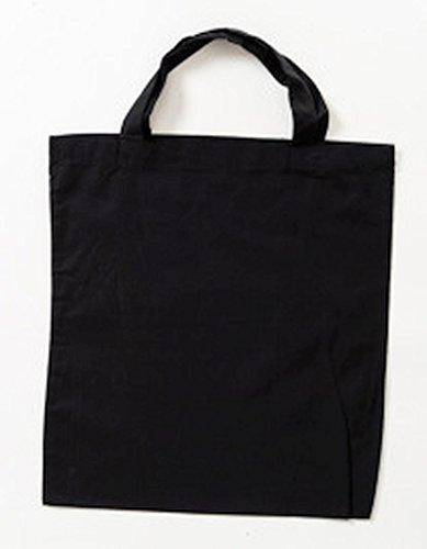 Jutebeutel kurze Henkel Farbe schwarz