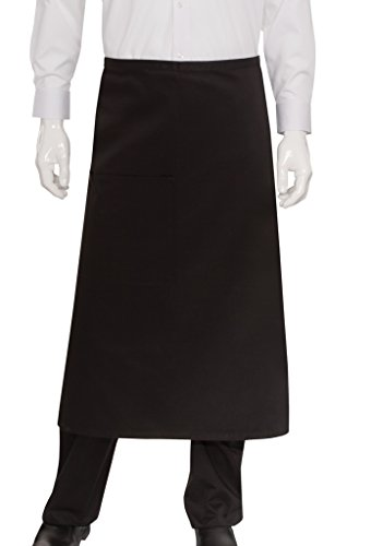 Chef Works Mens Bistro Apron, Black, 32-Inch Length by 30-Inch Width by Chef Works