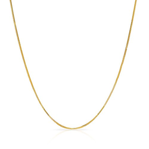 18 Inch 14k Yellow Gold Foxtail Chain Necklace (0.9 mm)