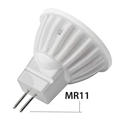 MR11 / GU10 LED Bulb 3W 110V, Halogen Bulb Equivalent Replacement, MR11 Halogen Lamp Cup Dimmable,Daylight White 6000K,(2 Pack)