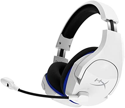 HyperX Cloud Stinger Core – Wireless Gaming Headset, for PS4, PC, Lightweight, Durable Steel Sliders, Noise-Cancelling Microphone, White (HHSS1C-KB-WT/G) 311L2IFBdZL