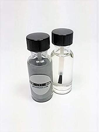 Touch Up Paint Base & Clear Coat - Mercedes Iridium Silver 775 9-775, 9775, C775 Genuine Mercedes