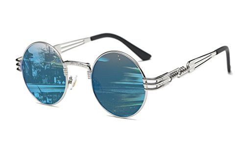 GAMT Fashion Classic Steampunk Round Sunglasses Metal Frame for Men and Women - Men Fashion Steampunk