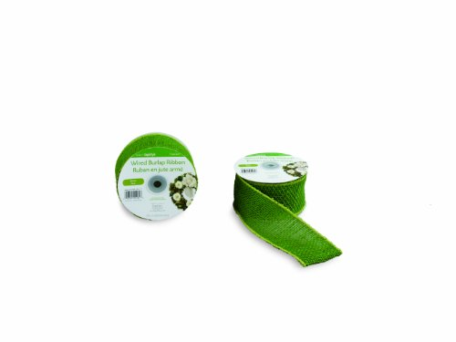 Floracraft SimpleStyle, 7 Yard Wired Ribbon, Green