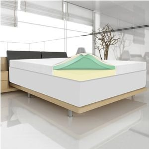 4'' Memory Foam Mattress Topper by Spa Sensations (Cal King) by