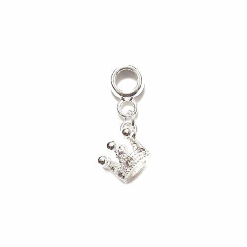 Hanging Blu (Amanda Blu Metal Beads Silver Plated-Hanging Crown)
