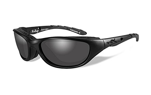 Wiley X Airrage Sunglasses, Smoke Grey, Matte - Sunglasses Wiley