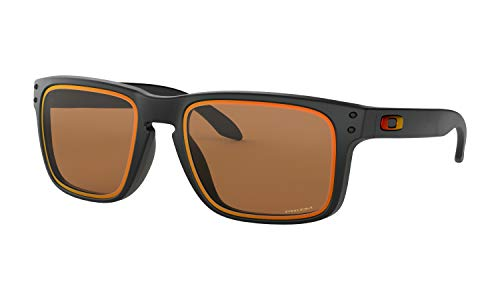 Oakley Holbrook Fire and Ice Collection Sunglasses (Matte Black Frame, Prizm Bronze Lens) with Country Flag ()