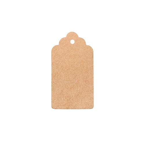 100Pcs/lot DIY Kraft Paper Tags Scalloped Rectangle Christmas Wedding Favour Party Gift Card Label Blank Luggage Tags 3 -