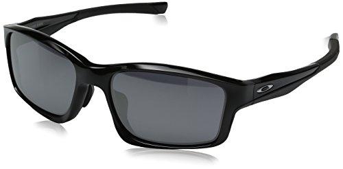 Oakley Men's Chainlink OO924701 Rectangular Sunglasses, Polished Black, 57 - Chain Oakley