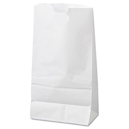 6lb White Rainbow Paper Bags (100Pcs/Pack)