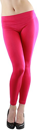 ToBeInStyle Women's Footless Elastic Leggings - One Size - Hot Pink