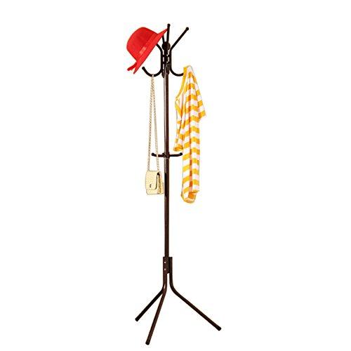 Awkli Metal Coat Rack Hat Hanger Jacket Umbrella Bag Holder Stand Tree Hanger with 12 Hooks for Home Office (Brown)