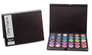(Glimmer Body Art Temporary Tattoo palette with 30 glitters)