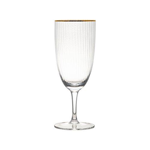 10 Strawberry Street MRKLG-GBLT4 Markle Water Goblet, 16 oz, Gold ()