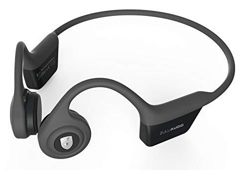 Zulu Exero Open-Ear Wireless Bone Conduction Headphones Grey for Running, Bicycling, Hiking, with Microphone