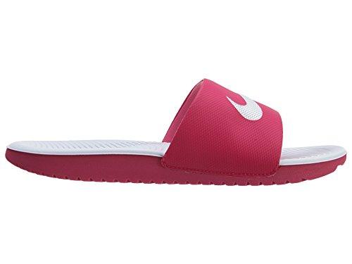 Nike Mädchen Kawa Slide (GS/PS) Zehentrenner Rosa / Blanco (Vivid Pink / White)