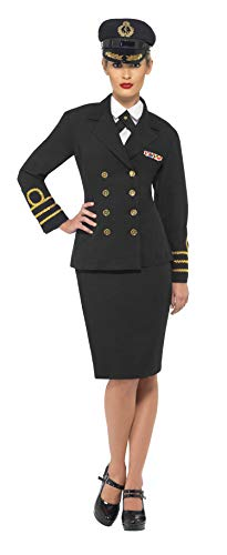 Smiffys Navy Officer Female, Black, Medium -