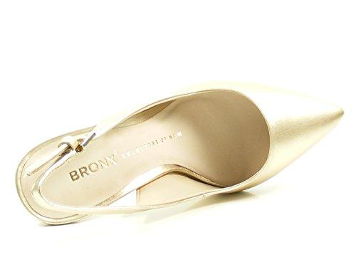 Bronx Sling Pumps Cote 75095-A Metallic High Heels Stiletto Gold