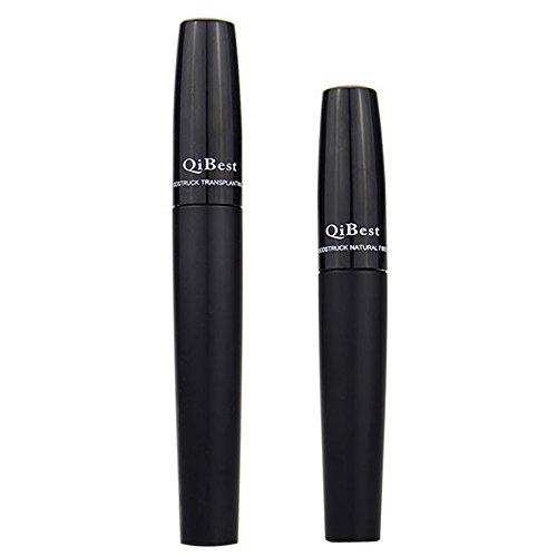 Jocestyle 2 Pcs Makeup Eyelash Long Curling Fiber 3D Mascara Eye Lashes Extension Black