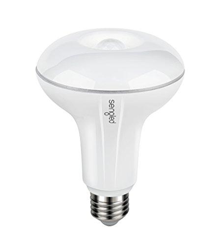 Sengled Smartsense Indoor LED Bulb, Built-In Motion Sensor, Dual-Mode, 8.5 Watts, 2700 Kelvins, 650 Lumens, E26 Base, Soft White, BR30 (1 PACK) Sensor Base