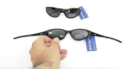 Gafas de sol polarizadas Bimbo INVU K 2408 A Negro Lentes 100% UV Block Sunglasses Polarized extensible: Amazon.es: Deportes y aire libre