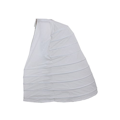 DUNHAO COS Women's White Crinoline Pannier Underskirt Victorian Dress (One Size Long ()