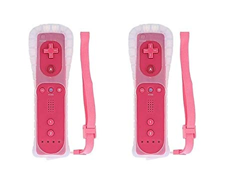 LION FISH - Remote Wireless Controller (2 Packs) for Nintendo Wii&Wii U Video Game Gamepads(No Motion Plus). (Pink)