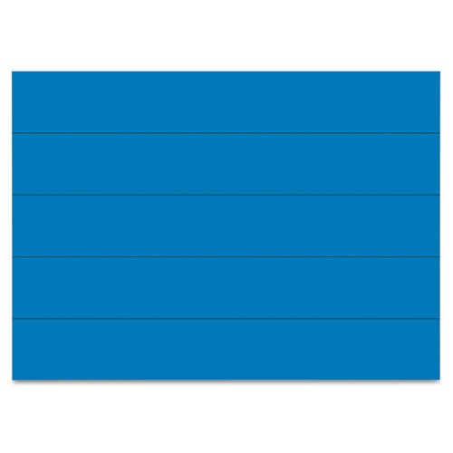 (MasterVision - Dry Erase Magnetic Tape Strips, Blue, 6