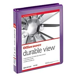 Avery Durable View Binder with 1 Inch Gap Free EZ-Turn Ring, Purple, 1 Binder - Binders Durable Turn Ring Ez