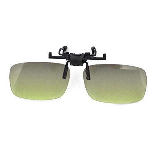 Gris Objectif Rimless Flip Up Protection UV Conduire Lunettes de soleil Clip
