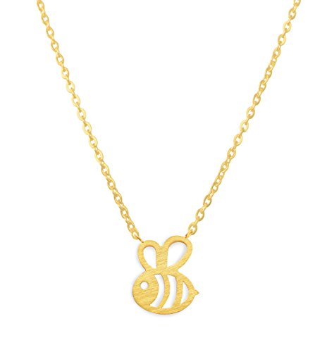 Altitude Boutique Bumble Bee Necklace, Honey Bee Necklace MotherÍs Day, Birthday, Engagement, ValentineÍs Day, Anniversary (Gold) ()