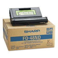 FO48ND Genuine Sharp Toner/Genuine Sharp Developer, Black ()