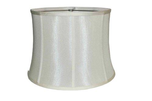 Amita Trading Inc. Ribbed Drum White Silk Shade