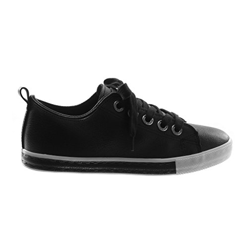 Tacco Strass Moda Donna Bicolore 5 a Angkorly cm 1 Sneaker Scarpe Piatto Tennis Tacco Grana Nero X5n1v