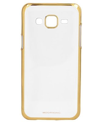 finest selection 09001 b000a Soft Transparent back cover for Samsung Galaxy E5 Gold: Amazon.in ...