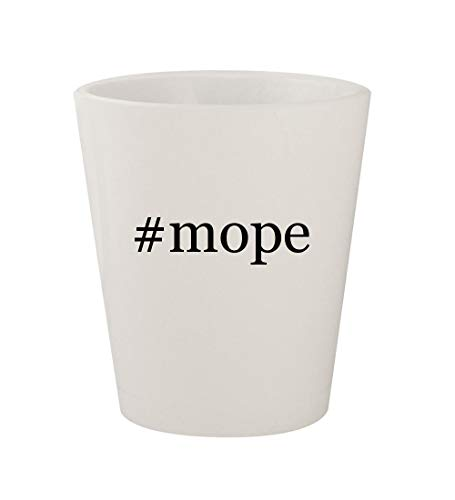 Price comparison product image #mope - Ceramic White Hashtag 1.5oz Shot Glass